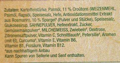 Spargelcremesuppe - Ingredienti - de
