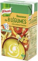 Knorr Soupe Liquide Douceur de 8 Légumes à la crème fraîche 1l - Product