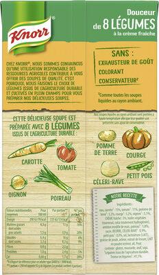 Knorr Soupe Liquide Douceur de 8 Légumes à la crème fraîche 1l - Ingrediënten