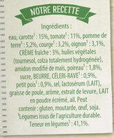Knorr Soupe Liquide Douceur de 8 Légumes à la crème fraîche - Ingredients - fr