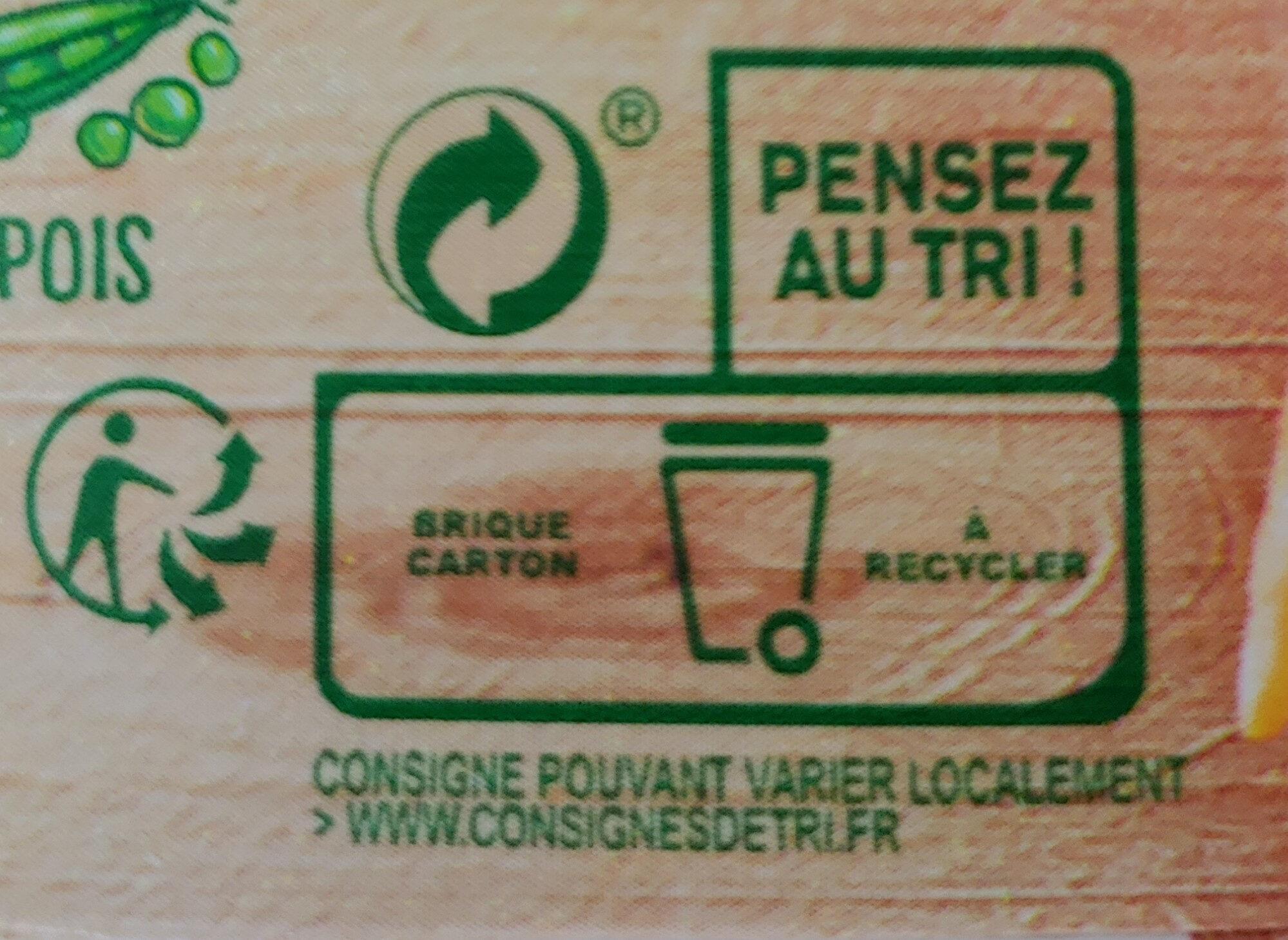 Knorr Soupe Liquide Douceur de 8 Légumes à la Crème Fraîche 50cl - Istruzioni per il riciclaggio e/o informazioni sull'imballaggio - fr