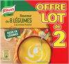 Knorr Soupe Douceur de 8 Légumes à la Crème Fraîche 2x50cl - Produit