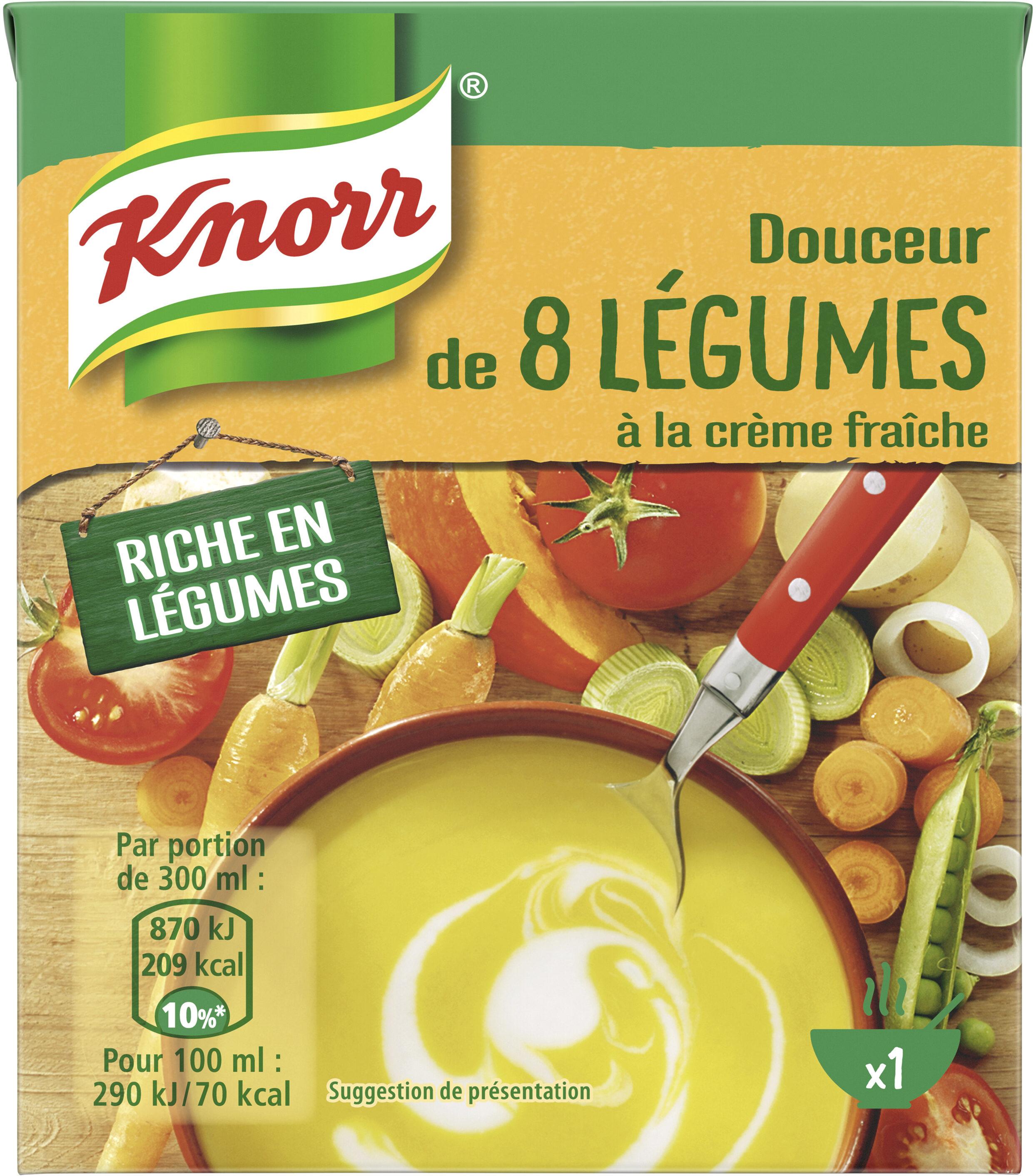 Knorr Soupe Douceur de 8 Légumes à la Crème Fraîche 30cl - Produit - fr