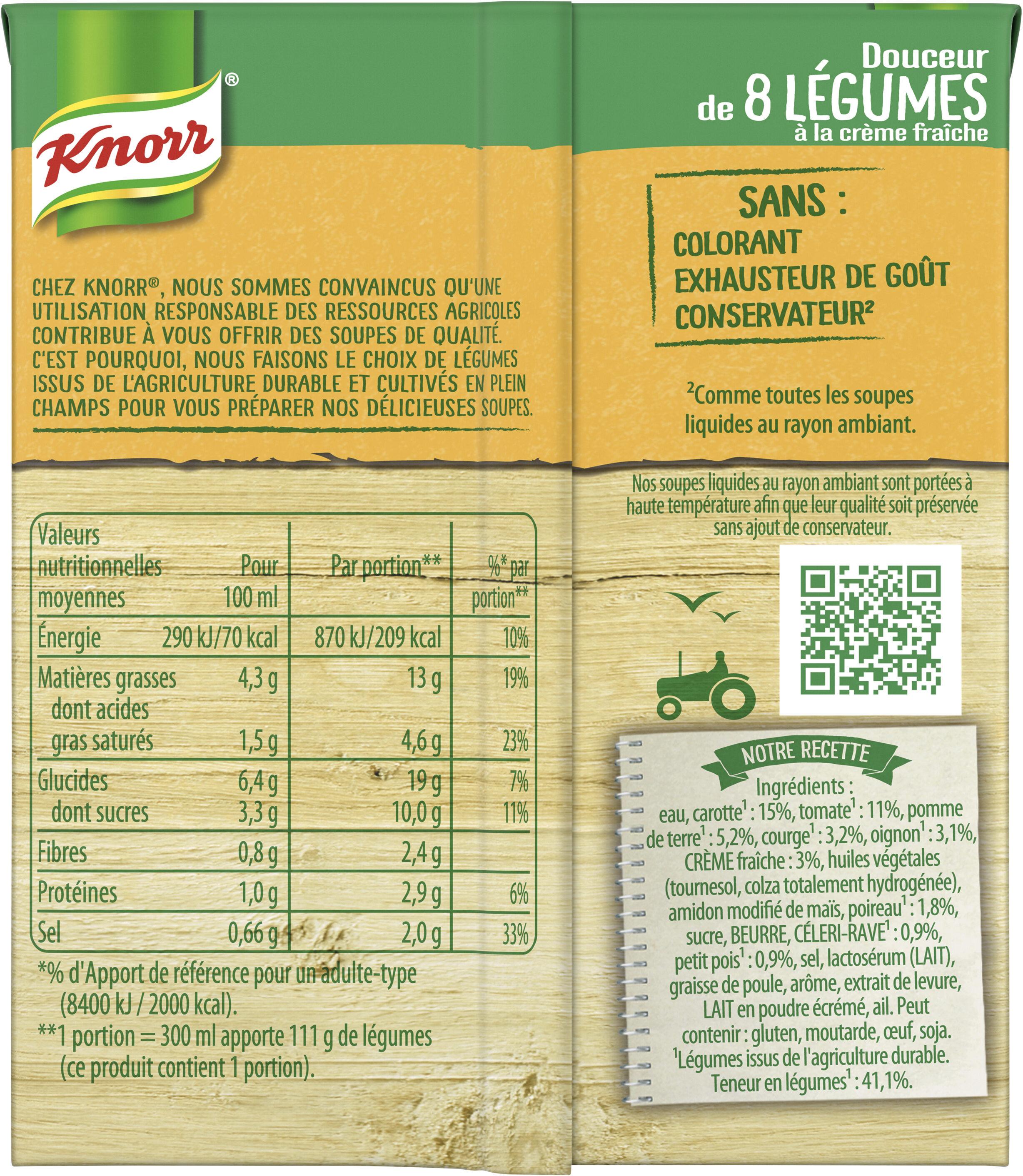 Knorr Soupe Douceur de 8 Légumes à la Crème Fraîche 30cl - Informations nutritionnelles - fr