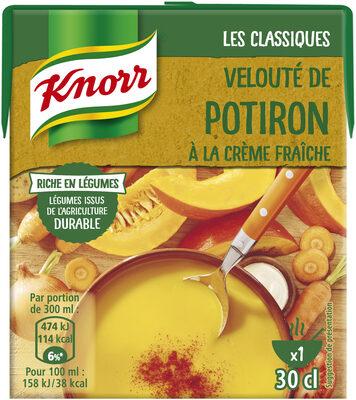 Knorr Les Classiques Soupe Liquide Velouté Potiron Crème Fraîche 30cl - Product - fr