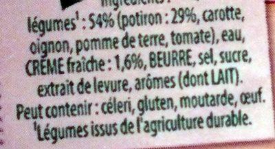 Velouté de Potiron à la Crème Fraîche - Ingredients
