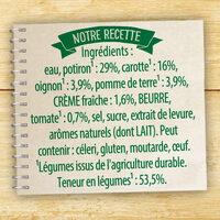 Knorr Les Classiques Soupe Liquide Velouté Potiron Crème Fraîche 30cl - Ingrédients - fr