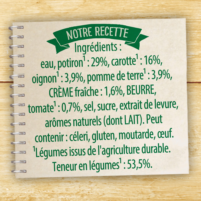 Knorr Les Classiques Soupe Liquide Velouté Potiron Crème Fraîche 30cl - Ingrediënten - fr