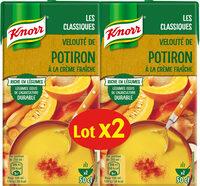 Knorr Velouté de Potiron à la Crème Fraîche Lot 2x1L - Produit - fr