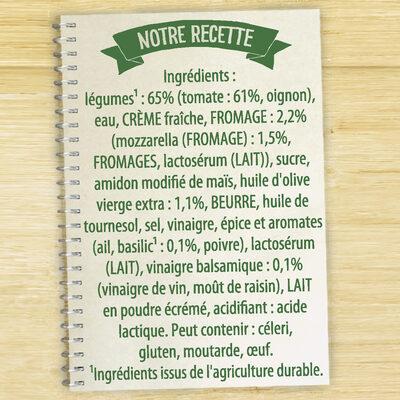 Knorr Soupe Liquide Douceur à l'italienne tomates mozzarella 1l - Ingrédients
