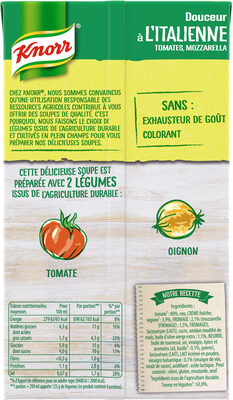 Knorr Soupe Liquide Douceur à l'italienne tomates mozzarella 1l - Informations nutritionnelles
