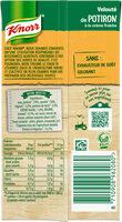 Knorr Soupe Liquide Velouté Potiron Crème Fraîche 50cl - Informations nutritionnelles - fr