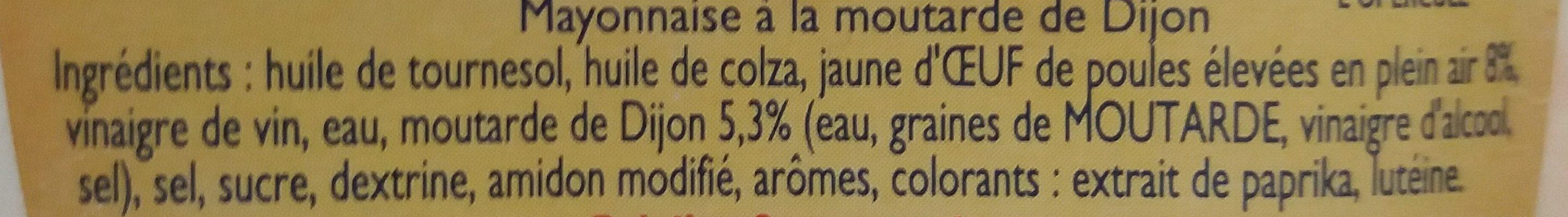 Amora Mayonnaise Nature Flacon Souple 415g Offre Saisonnière - Ingredients - fr