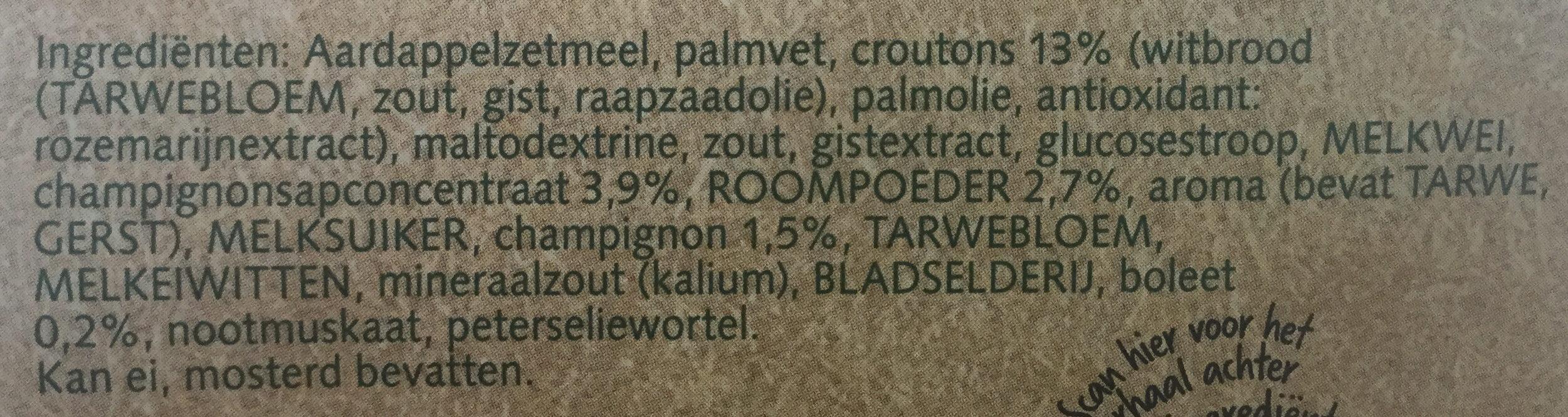 Champignon creme - Ingrediënten