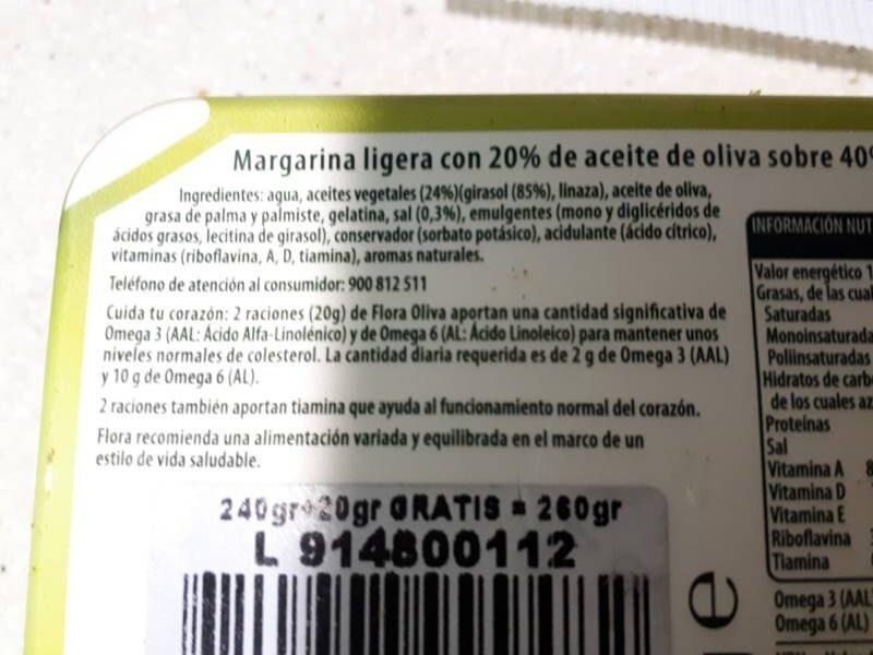 Flora Oliva - Ingredienti - es