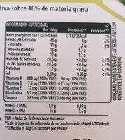Flora Oliva - Valori nutrizionali - es