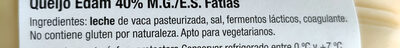 Edam - Ingredients - es