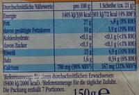 Landkäse - Nutrition facts - de