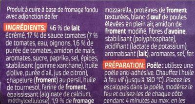 Schnitzel Tomate Mozzarella - Ingredients - fr