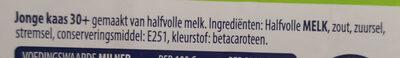 Jong 30+ kaas - Ingredients - en