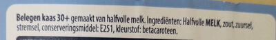 Belegen 30+ kaas - Ingredients - nl