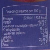 Compaxo Amigo's Hollandse Cervelaat - Nutrition facts - nl