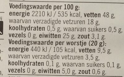 - Nutrition facts - nl