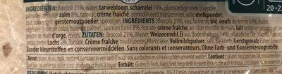 Quiche Saumon et Brocoli - Ingrediënten - fr