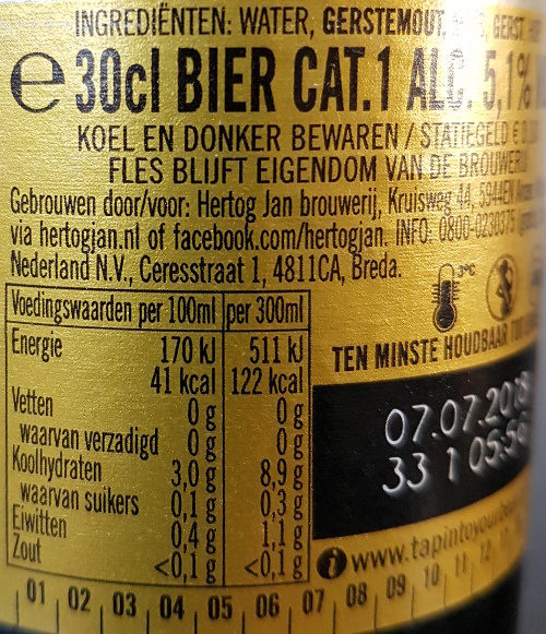 Hertog Jan Pilsener - Ingredients
