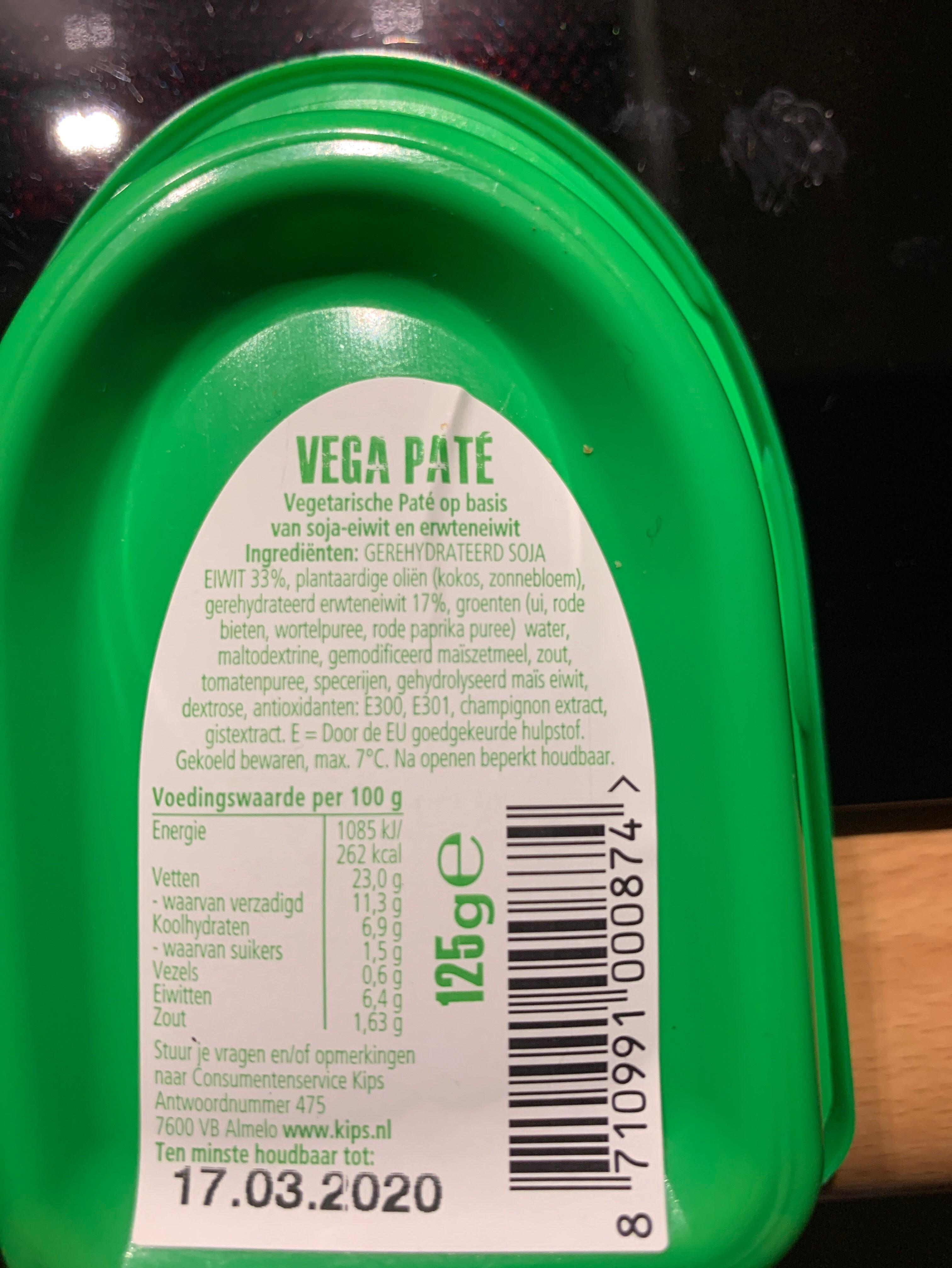 Vega paté - Ingredients - en