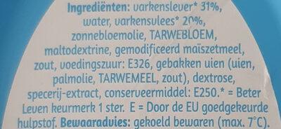 Creme Pate - Ingrediënten - nl