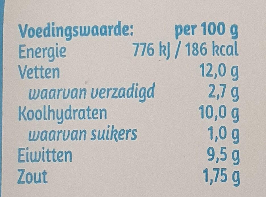 Creme Pate - Voedingswaarden - nl
