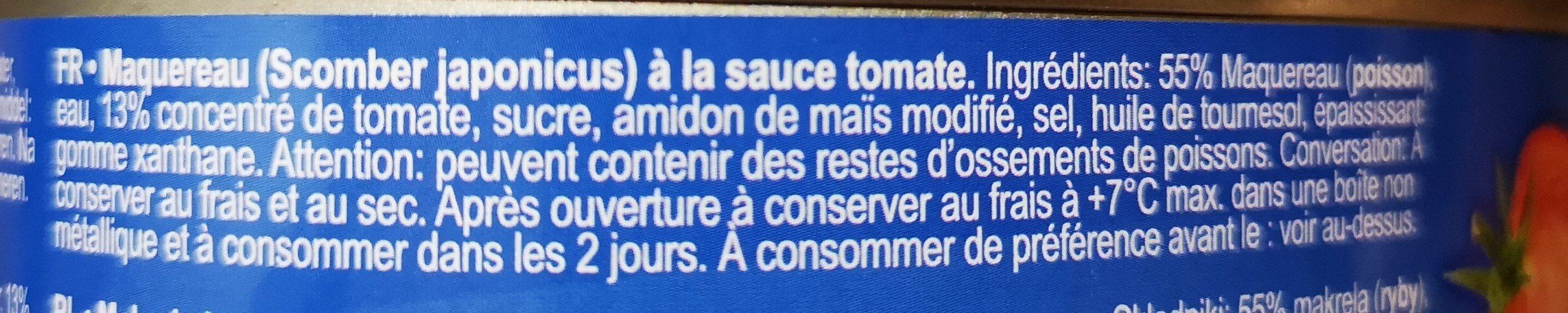 Mackerels - Ingrédients - fr