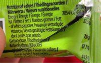 Choco shocks - Informations nutritionnelles - fr