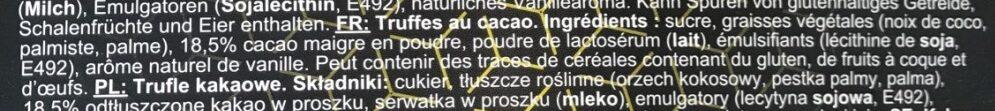 Truffles - Ingrédients - fr