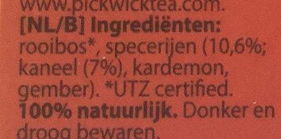 Rooibos original - Ingrediënten - nl