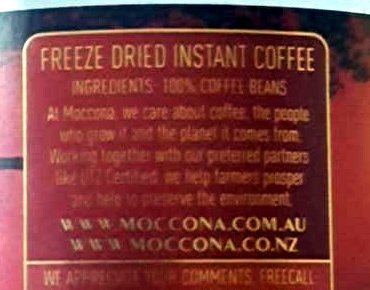 Moccona Mocha Kenya - Ingredients