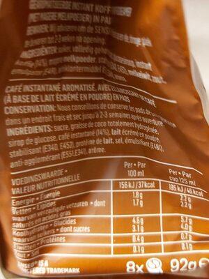 Douwe Egberts Senseo Cappucino 8'S 92G - Informations nutritionnelles