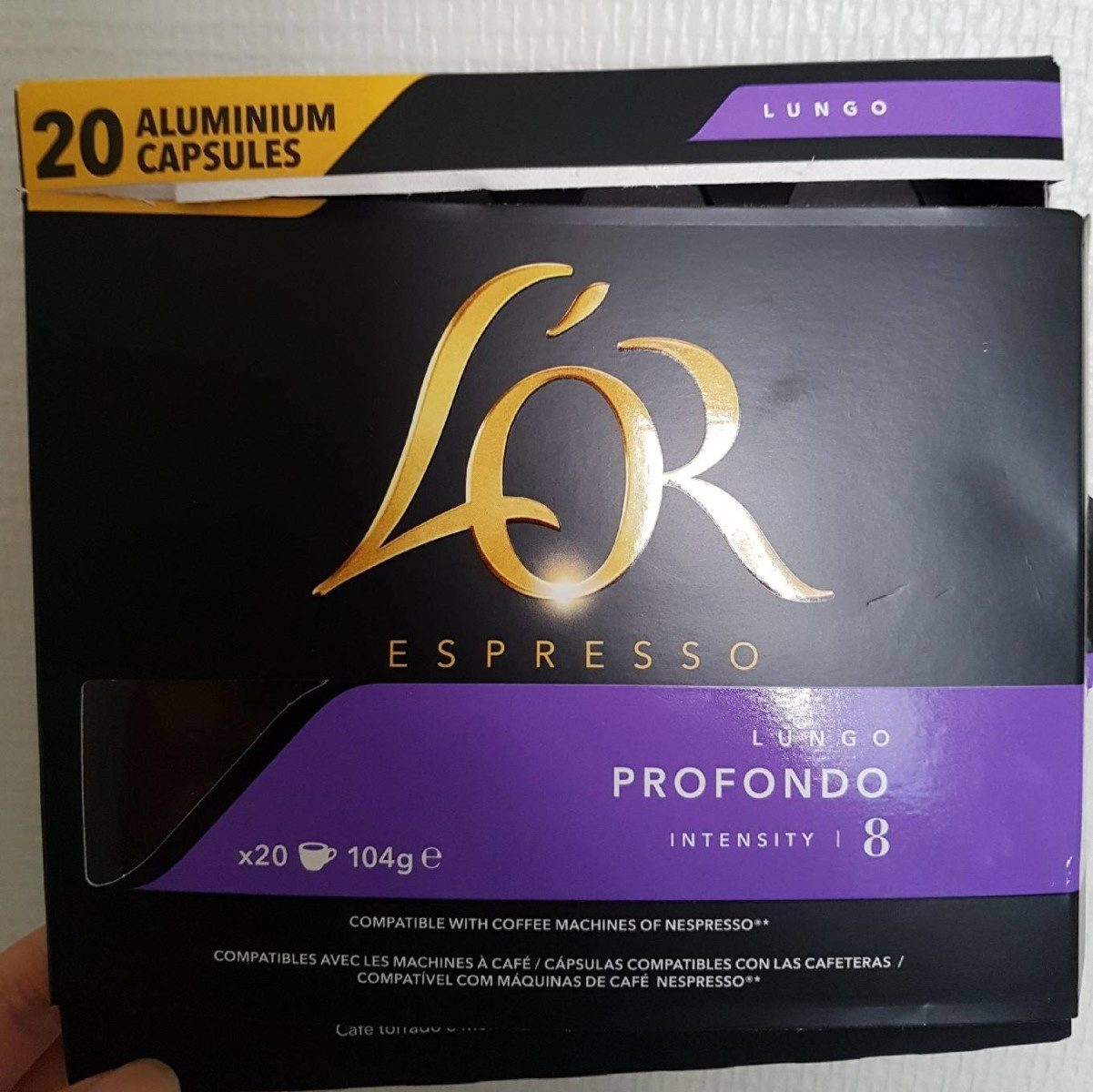 L'or Espresso lungo profondo 20 capsules - Product - fr