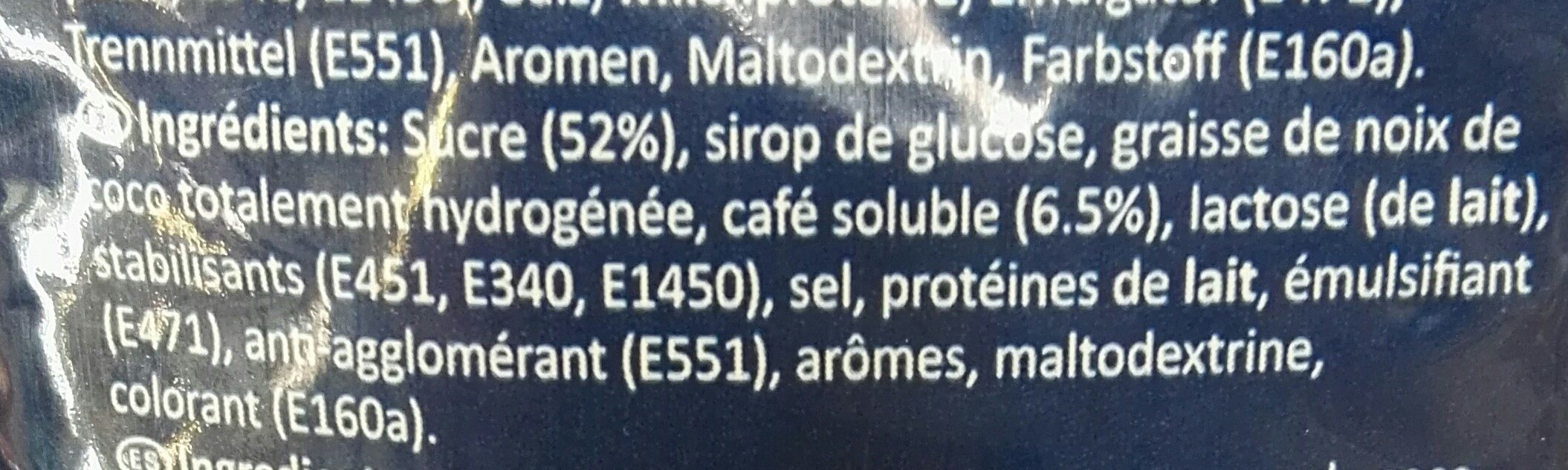 Capuccino noisette - Ingredients - fr