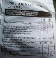 L'OR Latte Macchiato Caramel Coffee Pods 8 Servings - Nährwertangaben - fr