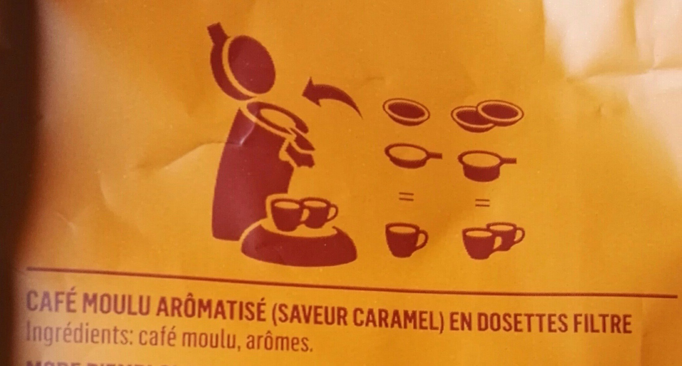 Café senseo caramel - Ingredienti - fr