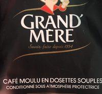 Café dosettes - Ingrédients - fr