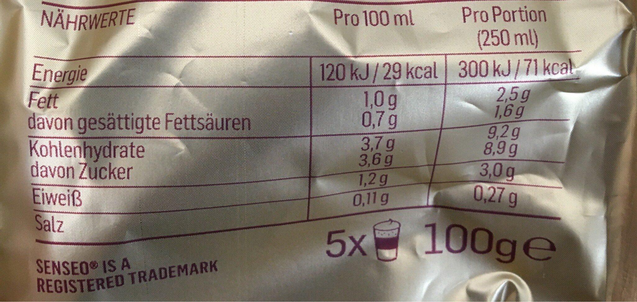 Latte Macchiato - Valori nutrizionali - fr