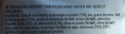 Tassimo Suchard - Ingredients - fr