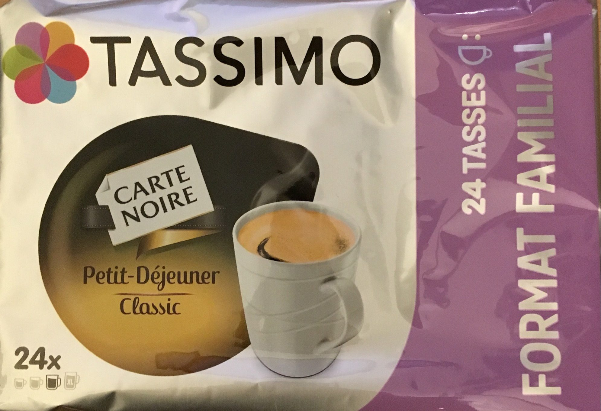 TASSIMO Carte Noire Petit Déjeuner Classic 24 Tdisc Lot de 3 (72 Tdisc) - Product - fr