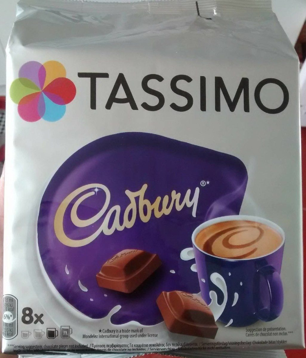 Tassimo Cadbury Hot Chocolate Pods X8