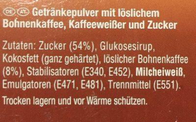 3in1 Instant Coffee Sticks - Zutaten - de