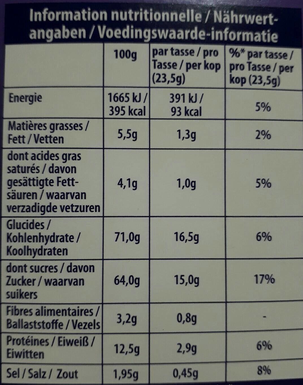Milka Dosettes Chocolat - Informations nutritionnelles - fr