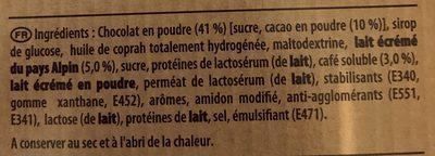 Cappuccino Milka - Ingredients